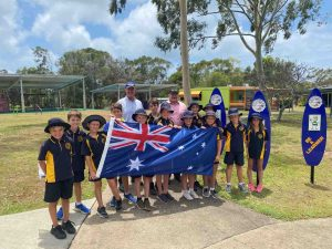 Check our Facebook page for happenings for Australia Day - Rainbow Beach State School have a new Aussie flag thanks to MP Llew O'Brien