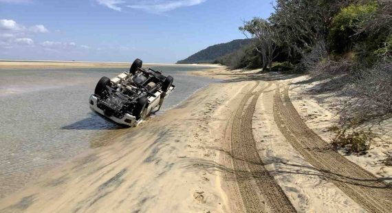 Police Beat - This rollover at Double Island Point was preventable