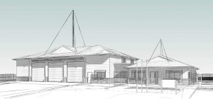 A glimpse of the new Fire and SES Station in Rainbow Beach