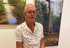 John Gerritsen whittling away some lovely wooden animals