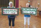 Quilters - June and Michelle's Christmas table runners