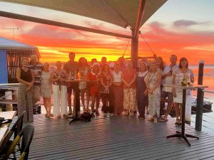 More sunset celebrations for the wonderful Rainbow Beach State School team at Captain's on Carlo, Carlo Point