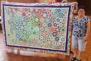 Leonie's kaleidoscope quilt