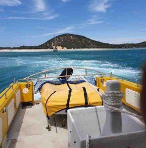 Tin Can Bay Coastguard conduct a yacht tow from Rainbow Beach