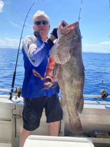 Dennis got a work out with this cracking estuary cod in perfect offshore conditions