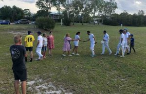 Lionel McBride Cricket - The family congratulate the winning team.