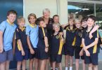 After four years at Rainbow Beach State School, Ronnie received a big farewell in 2017