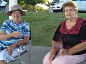 Lil Kahl and Janette Penny enjoyed dinner with the Over 60s