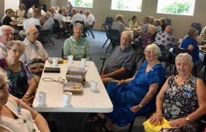 Cooloola Coast Probus members at morning tea after the Ecumenical Service