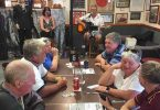 Patrons enjoying Sunday's BBQ on the deck with music at the Tin Can Bay RSL