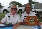 Dianne and Stuart Pryor remind everyone about the annual Coastguard Easter Roadside Collection!