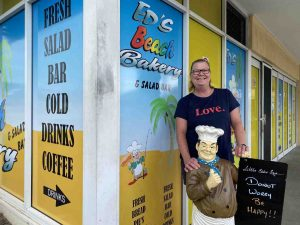 Sharon Parker says goodbye to Little Eddie and Ed's Beach Bakery!