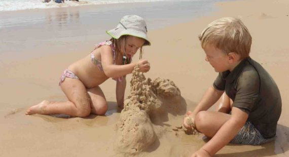 Make a sandcastle!