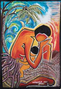 Cyclone Pam II: 13th of March, 2015 by Juliette Pita is the painting chosen to represent World Day of Prayer, 2021