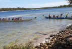 Queensland Sonics using CDBC boats for three days of training at Tin Can Bay