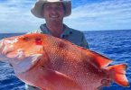 Jason was stoked with his first ever Red Emperor while fishing on Baitrunner