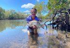 Mitch Cooper with a Mangrove Jack