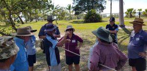 Seniors receiving training by the TCB Fishing Club members
