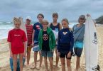 Joel, Nathan, Jim, Rory, Fred, Tabitha and Jahli. Joel, Fred and Rory were successfully chosen for the Wide Bay Surfing Team