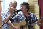 A delightful duo: Len on harmonica and Lay on guitar and vocals