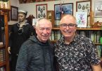 Barry Wilkinson, former drummer for Wickety Wak chatting to local crooner Keith Miller during a break in the entertainment