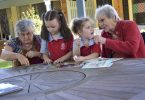 Residents helped Quinn and Lucy with jigsaw puzzles