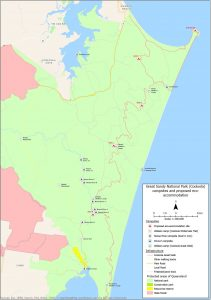 Great Sandy National Park (Cooloola) campsites and proposed eco-accommodation