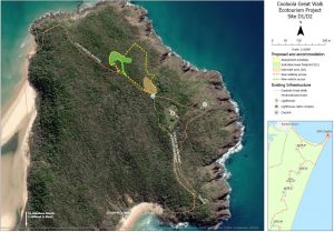 Proposed eco-accommodation on Double Island Point