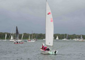 Our only entrant in last month's Bay to Bay Yacht Race won second place!