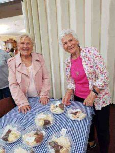 Lyn and Nellie had fun at the CWA breast cancer fundraiser