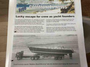 April, 2005, Volume 7, Issue 4, Rainbow Beach Community News - Mainstay shipwreck