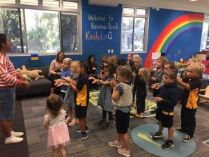 Songs were part of the fun on the Rainbow Beach Playgroup Mother's Day Morning Tea
