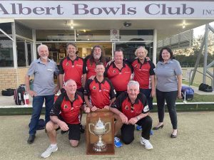 Congratulations to the Rainbow Beach Lawn Bowls team who won the Dodt Cup at the Albert Bowls Club Gympie last month!