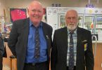 Karl Hempstead and Pat Cahill share experiences on submarines during their time in the Australian Navy
