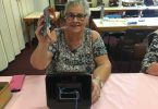 Judy collects money for the CWA Hoy entries