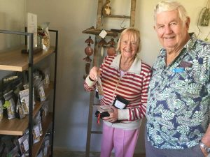 Probus - Don and Judy select goods from the Lindols Farm Shop