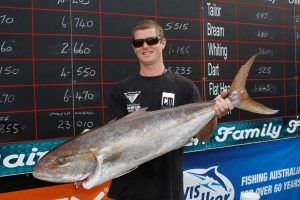 Byron Rush shows off his big fish at a previous Classic - what is more fun? Watching the catches weighed or the final drawdown?