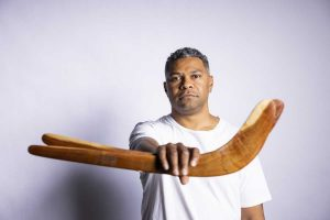 Fred Leone is one of the Butchulla Songmen, a language custodian, and a ground-breaking, award-winning artist coming to the Rainbow Beach Spring Festival