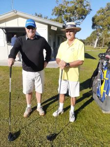 Bruce Willoughby and Derek Appleford ready to play Men's Foursomes