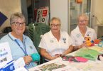 QCWA members Wendy, Judy and Dawn welcome you to join them