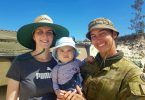 Private Lynette Khan was thrilled with a bonus visit from sister Melissa and nephew Koa