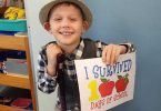 Nate celebrates completing 100 days of Prep