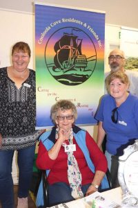 Head along to the Seniors Expo on October 23, hosted by Cooloola Coast Residents & Friends Inc. Pictured L-R: Theresa Fear, Jackie Moore, Beth Browne and Lyle Fear