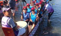 Team Cooloola loaded and ready for the start line at the Bundaberg Dragon Boat Regatta