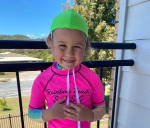 Lelaina Bulat signed up for her first year of Nippers