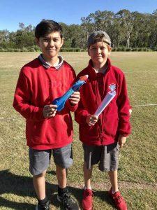 Brandon Roy and Beau Stevenson ready to launch their handmade rockets