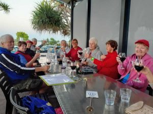 Cooloola Dragons chill out at the Yacht Club after Thursday pm training.